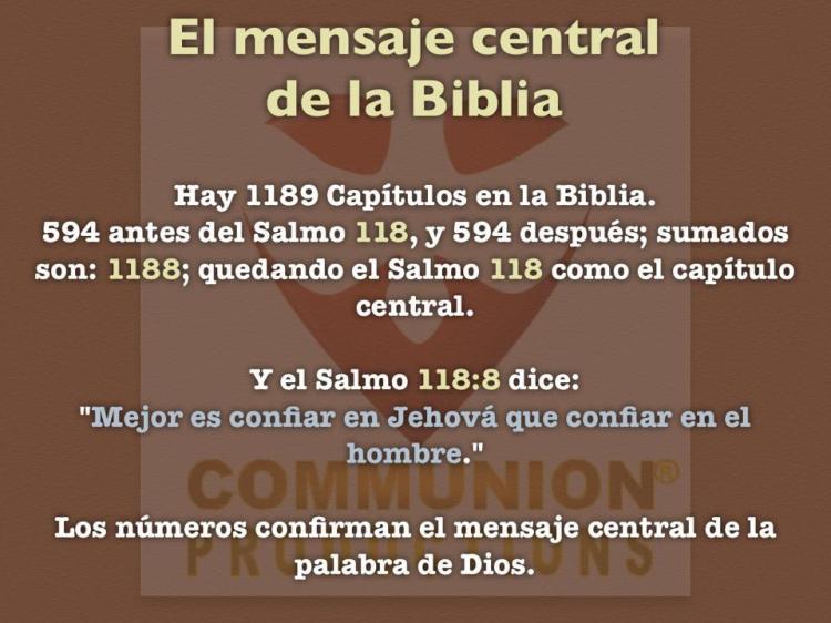El mensaje central de la Biblia